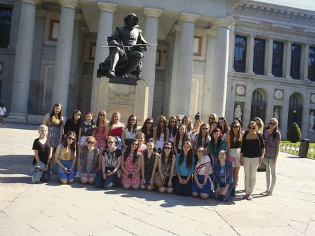 St Brigid's pupils enjoying the sights of Madrid.