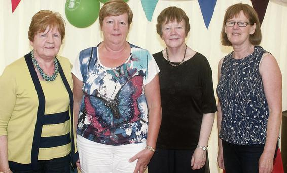 Margaret O'Sullivan and Mary Fealy from Banemore, Mary Duggan, Moyvane and Kathleen Herlihy, Ballymac at the Dan Paddy Andy Festival in Lyrecompane