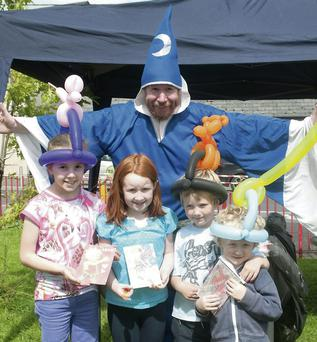 The Sandy Man with Chloe Neil, Niamh Buckley, David Watson and Charlie Watson at the Duagh Summer Festival.