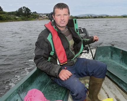 David Clifford from Waterville, one of the many volunteers busy working at the All Ireland Coastal Rowing Championships 2014, at Lough Courane, Waterville.