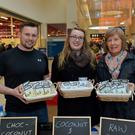 Niall Harty, Rosalynd Hayes from Castlegregory and Joan Griffin from Tralee pictured at the Manor West Retail Park, Christmas food fair which took place in Manor Shopping Centre over the weekend