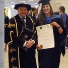 Marie Louise Moriarty, Inch, Annascaul with Professor Andrew Deeks, who graduated from U.C.D. with a 1st Class Honours degree in Nursing