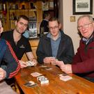 Supporting the fundraising Poker for Athletic Ardfert Soccer Club in McElligotts Bar, Ardfert recently were Cianan Ferris,Damian Ferris, Tony Neary and Maurice McElligott. Pic: Eye Focus LTD