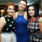 Kilmoyley Ladies at the Kilmoyley GAA Hurling club victory social at Ballyroe Heights Hotel on Saturday night. Pictured: Triona Brassil, Maria Galligan, and Joanne O'Sullivan, Kilmoyley. Photo: John Cleary