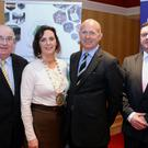 British Ambassador Dominick Chilcott pictured with Kate O'Leary, President, Senator Paul Coghlan and Denis McCarthy, General Manager pictured after addressing members of Killarney Chamber of Tourism and Commerce on the 'Brexit' question in The Killarney Avewnue Hotel on Monday. Photo Don MacMonagle