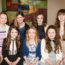 Enjoying the Causeway Comhaltas,in Ballyroe Heights Hotel,Tralee on Saturday night, Front l-r: Lisa Barrett, Debora Canty and Stacey Leahy. Back l-r: Ivana Nelan, Aisling Harty, Norah Leen and Ciara O'Hanlon. Photo by: Eye Focus Ltd