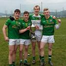 Spa players who helped The Sem defeat Clonmel in the Munster final in Mallow on Saturday. From left David Spillane, Dara Mpynihan, David Cartoll and Evan Cronin