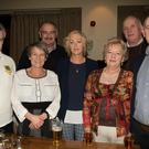 Enjoying the Kerry/Donegal Gathering in Fels Point Hotel, Tralee on Saturday night, Gerrard Tigue, Joann Slaughter, John Moore, Martie McElhinwey, Bridget Moore, Liam McElhinwey and Noel Toye