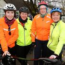 Taking part in the annual Tour De Ballyfinnane Cycle on Saturday in aid of Ballyfinnane National School were, L to R: Paula Casey Tralee, Margaret Silles, Ardfert, Mary Bonner, Tralee, and Myra Griffin, Ballyfinnane. Photo: John Cleary