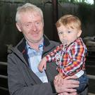 Eoin Knightly, Annascaul, with his son, Connor, at the West Kerry Show on Sunday. Photo by Declan Malone
