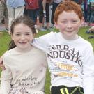 Twins Hannah and Michael Devane from Ardamore, Lispole, at Ventry Regatta on Sunday. Photo by Declan Malone