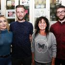 Pictured at 'The Wake' by ITT students on Friday night at The Ashe Hotel, L to R: Laura O'Loughlin, Tralee, Andrius Valukonins, Tralee, Lozann McCarthy, Castleisland, and Eoin Murphy, Castleisland. Photo: John Cleary