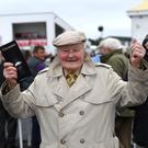 Gerald Quinn from North Kerry aged 92 enjoys the Listowel Races. Photo By Domnick Walsh