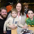 Damien and Tara Collins with their children John and Evan from Lixnaw, enjoying a great family night out at the dogs at the Kingdom Greyhound Stadium on Friday night. © 2016 www.deniswalshphotography.com