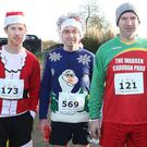 Taking part in the Santa run from the Wetlands on Sunday, left Shane Flynn, Castlegregory, Alan Kelliher and Vincent Hillard, both from Castlegregory, and Shane O'Carroll, Kilflynn. Photo: John Cleary