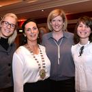 Alice Thompson, Emer Corridan and Kellie O'Doherty pictured with Kate O'Leary, President, Killarney Chamber of Tourism & Commerce at the final chamber meeting of her tenure in the Killarney Avenue Hotel on Thursday night. Photo Don MacMonagle