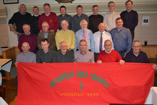 Kilmoyley Golf Social was held in Ballyheigue Club House on Saturday night. All the past Captains are in the photo, they are: 1995 & 1996 James Kennedy, 1997 Nicky Cooke, 1998 Diarmuid Leen, 1999 Michael Meehan Sur, 2000 Gerry Horan, 2001 John Fitzgerald, 2002 Seanie Horan, 2003 John Brendan Griffin, 2004 Maurice Egan, 2005 Greg Claffey, 2006 Eddie Meehan, 2007 Hubert Fitzell, 2008 Maurice Quane, 2009 Sean McGrath, 2010 Chris Horan, 2011 Eddie Flaherty, 2012 Tony Flaherty, 2013 Bert Sheehy, 2014 Brendan Godley, 2015 J.J. Mc Elligot, 2016 Jimmy O'Sullivan. Photo taken by Fiona Moriarty