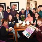 Launching the Card Drive on the 19th February in the Glenflesk Hall and a Coffee Morning on the 4th March in the Kerry Way in aid of Maureen Kelliher, were Mary Lyne, Maureen Kelliher, Ann Courtney, Claire Brosnan, Mary McCormick, Jack O'Donoghue (back from left) Peg Doherty, Derry Healy, Denis O'Sullivan, John O'Donoghue, Deputy Danny Healy Rae, Kathleen O'Connor Fleming and Mary O'Sullivan