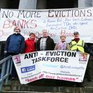 Kerry Anti-Eviction Taskforce, protesting at the Court House Tralee on Thursday. Photo: John Cleary