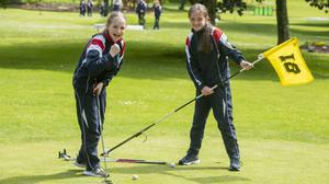 Ashley Doyle and Shona Griffin nailing the short game at Listowel Pitch and Putt Club last week. Photos by Domnick Walsh
