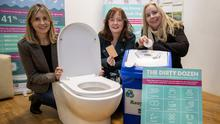 Martha Farrell , Cara Keane and Ann-Marie Fuller pictured at the Wetlands Centre at the official launch of the Tralee 'Think Before You Flush' environmental campaign. Photo Domnick Walsh