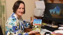 Author Máire O'Leary with her book, 'Freewheeling to Love'. Photos by Michelle Cooper Galvin