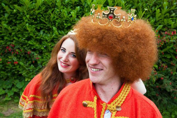 King of the Redheads 2015 Alan Reidy, from Blennerville, Co. Kerry with Queen of the Redheads 2015 Graine Keena, from Fermoy