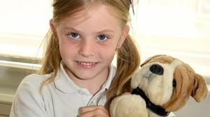 Senior Infant pupil Erin Cronin participating in the Teddy Bears Picnic at Nagle Rice Primary School, Milltown on Friday. Photos by Michelle Cooper Galvin
