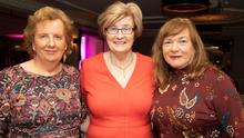 Marian Barnes, Maureen O'Brien and Kathleen Collins (Recovery Haven) at the fundraising dance for Recovery Haven at Ballygarry House Hotel on Monday evening. Photo by Joe Hanley