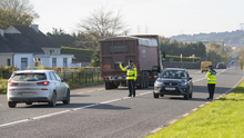 Gardaí operating a checkpoint at the county bounds outside Tarbert last week as part of Operation Fanacht. Photos by Domnick Walsh