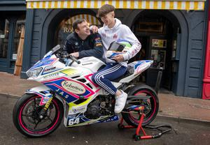 Mark Coyne with his son, Kevin. Photo by Domnick Walsh