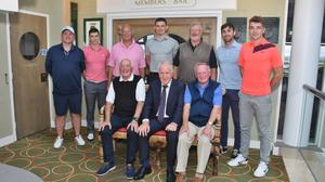 Just some of those who took part in fundraising golf tournament at Ballybunion Golf Club recently. The fundraiser was in aid of the Tinteán Theatre in Ballybunion.