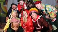 Rathmore 2015: Launching the Marian Players Rathmore Panto Little Red Riding Hood were Pamala O'Keeffe as The Fairy in the Forest, Margaret O'Sullivan as Pinny, Michelle O'Callaghan as Red Riding Hood, Jimmy Kelly as The Dame, Mike Cronin as The Squire Bullimore, David Reen as Peter the Woodcutter, Matt O'Riordan as The Wolf and Brian Hickey as Patches in the Community Centre Rathmore. Copyright Michelle Cooper Galvin