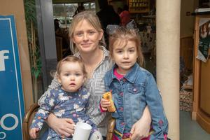 """Caoilfhoinn, Kerrie and Shari enjoying their coffee morning at the Bud Family Resource Centre in Ballyduff, which was to raise funds for the charity """"SOFT""""."""