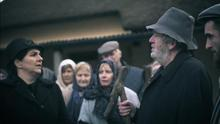 A scene from the latest screen adaptation of The Field – featuring Martin McCarthy as The Bull; Aidan Galvin as Tadhg and Imelda Dowling Garvey as The Widow among other key cast and extras
