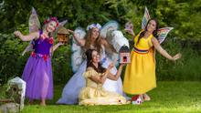 Poppy the Fairy, Pearl (Queen of the fairies) Ruby the Rainbow Fairy and Bell at the launch of the 2020 Virtual Kilfynn Fairy Festival, which will this year be raising funds for the Laura Lynn Children's Hospice
