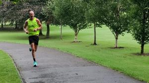 Runners and walkers enjoying the return of Listowel parkrun on Saturday morning.