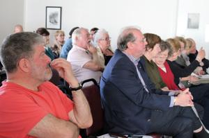 Enthusiasts at one of the weekend's talks during the Messier Marathon event held in south Kerry.