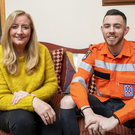 Traleeman Connor Nourse pictured here at home in Lee Drive with his mother Catherine White before he flew to Australia to link up with the State Emergency Service (SES). Photo by Domnick Walsh