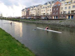 Members of Tralee Rowing Club are back on the canal once again this week