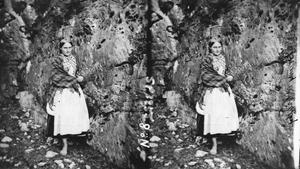 One of the photographs from The Gap of Dunloe that will feature in next Monday night's series on TG4, 'Gap Girls'. It is now part of the Lawrence Collection at the National Library of Ireland