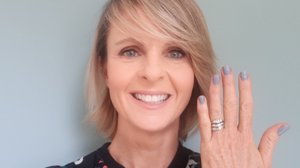 'Luck' what I found: Tralee woman Rachael Brassil Makenzie pictured on Tuesday re-united with the three precious rings that she thought were lost on Fenit Island