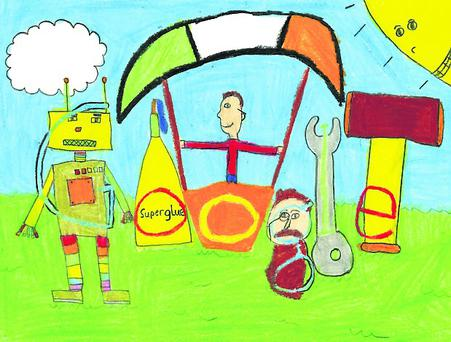 Doodle 4 Google finalist Robert Monahan's entry, based on the theme of My Invention...