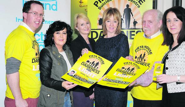 Marie Carroll, Catherine O'Dwyer, Joan Freeman and Denis Carroll at the Darkness into Light 5km Walk/Run launch in Dromhall Hotel, Killarney, which will be held on Saturday 11th May starting at 4am. Photo: Michelle Cooper Galvin