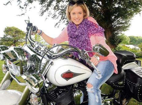 Agnete Kavinska, Killarney, enjoying the Ireland Bike Fest at the Gleneagle Hotel, Killarney on Sunday. Photo: Eamonn Keogh (MacMonagle, Killarney)