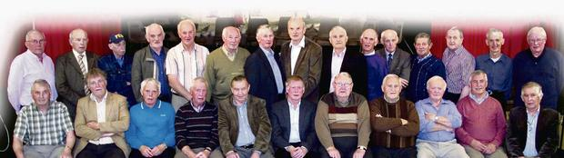 nMembers of the Lixnaw minor hurling teams of 1963-1965 front from left: John Carroll, Haulie Costello, Frank Keane, Tony Sheehy, John Joe Kelliher, Pat McCarthy, Gerald McKenna, guest speaker; Martin Griffin, Pat Cronin, Jimmy Galvin and Eamonn Fitzmaurice. Back row from left: Frank Barrett, Mick Fitzgerald, John O'Connell, Vincent McKenna, Mike Allen, Moss Diggins, Eddie Joe McCarthy, John Costello, John Griffin, Donal Fitzmaurice, Pat Joe Murphy, Mick Joe Quilter, Mike Griffin, Tim Joe O'Connell and Cyril Denihan. Photo: John Reidy