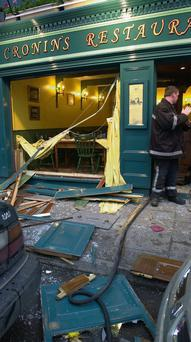 The scene back in June 2000 when there was a gas explosion in Cronin's Restaurant, Killarney.
