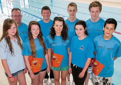 Kingdom Swimming Club Division One team on their way to the Swim Ireland Championships in Dublin this Thursday. Back; Ger McDonnell, Conor O'Donoghue, Jack Grace, Dylan Fitzgerald. Front: Ailbhe Connell, Sandra Lynch, Laura O'Shea, Sarah Gavaghan and Caomhan Daly.