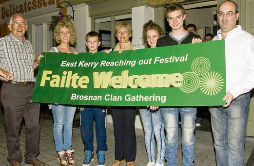 Bríd O'Shea, John Barry, Joan O'Shea , Áine Barry and Micheál O'Shea as the East Kerry Roots Festival concluded at Browne's Bar on Sunday night. Photo: John Reidy