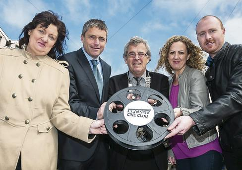 Helen Horan, Kerry Film Festival, Councillor Pat Daly, Mayor of Tralee Pat Hussey, Yvonne Murphy, Kerry Film Festival and Neil Browne , Kerry Film Festival launch the Secret Cine Club open air screening in the Square on Friday September 20 at 6pm as part of Culture Night.